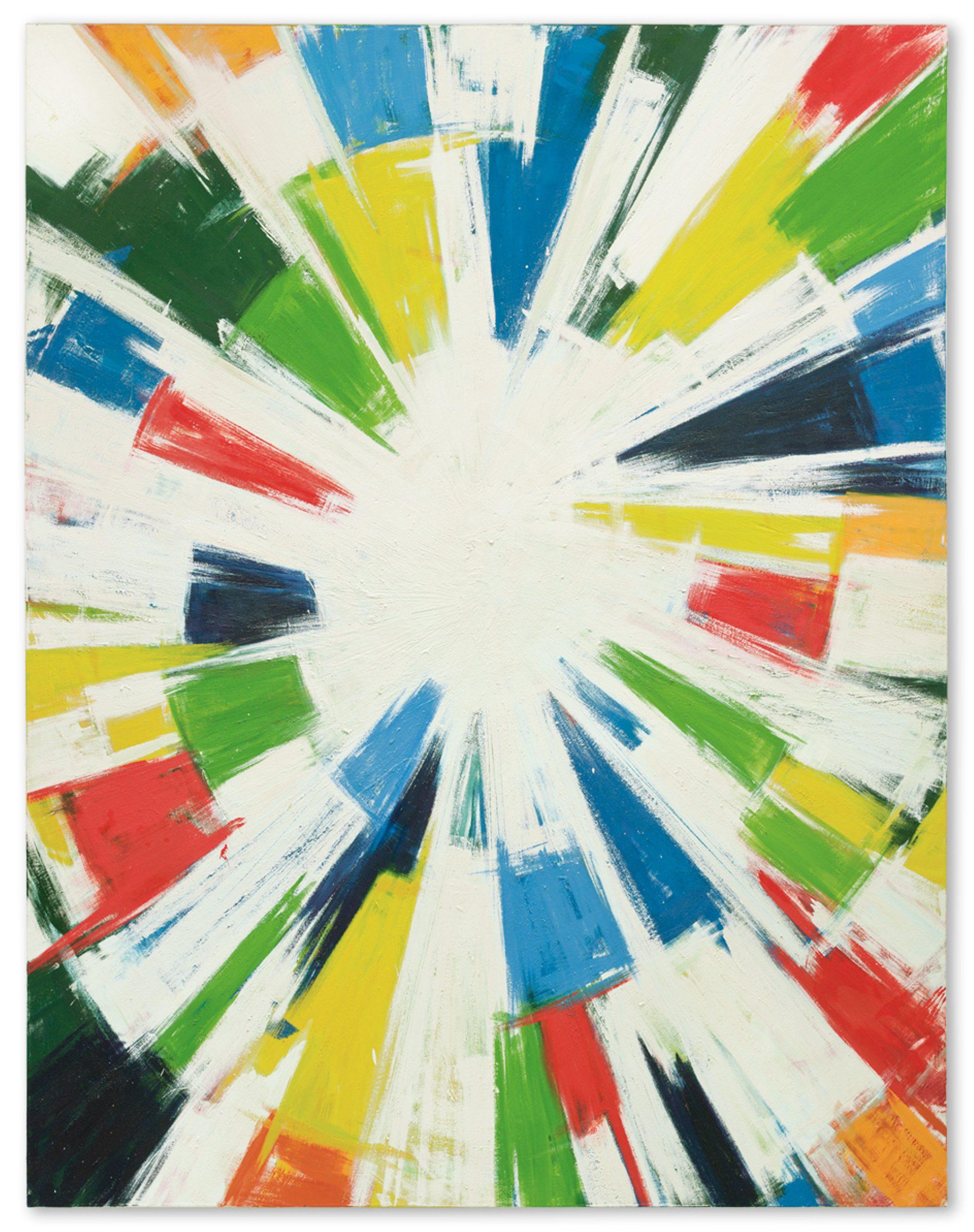 Mosaik Zeichnung aus bunten Farben