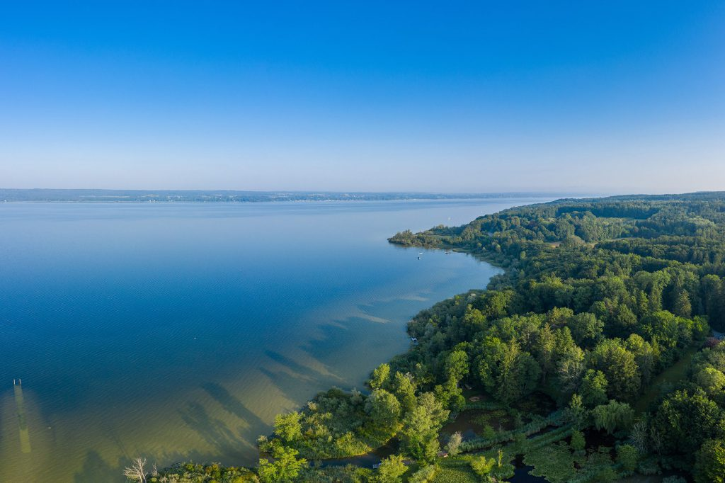 Panoramaaufnahme vom Ammersee